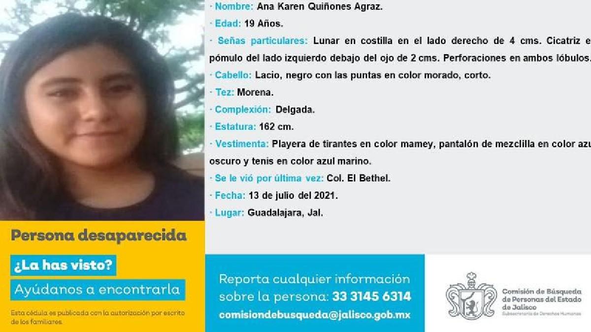 Jalisco: UdeG exige localizar con vida a Ana Karen en Guadalajara
