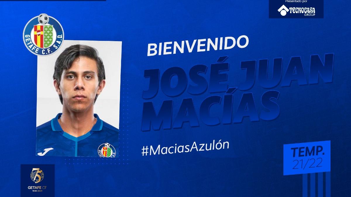 JJ Macías al Getafe, oficializan el fichaje - Uno TV