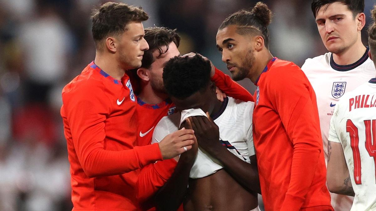 Los jugadores ingleses no pudieron contener las lágrimas