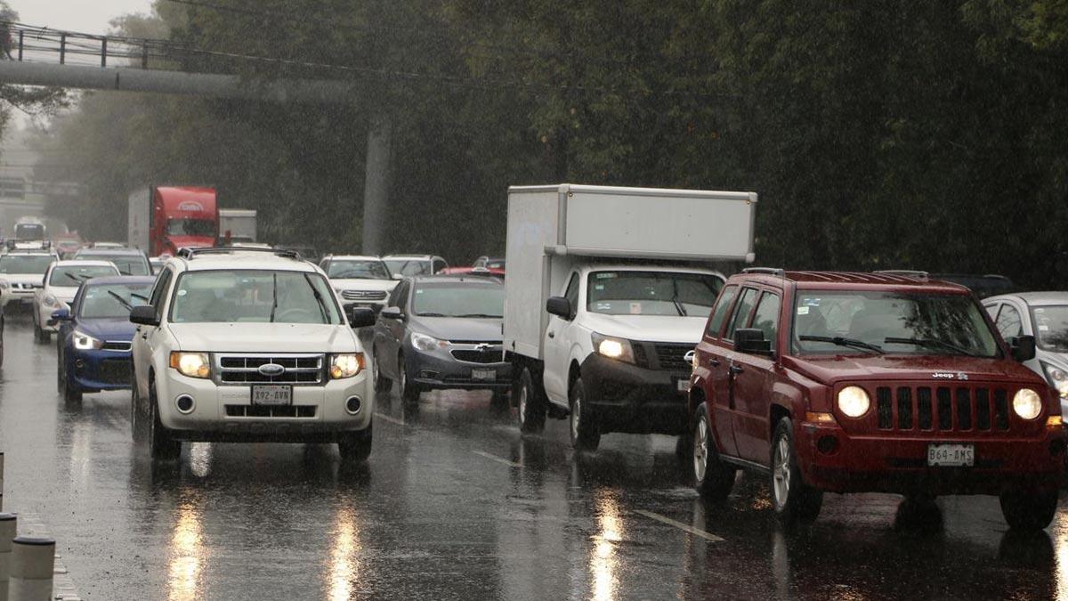 Lluvias en CDMX en al menos cinco alcaldías