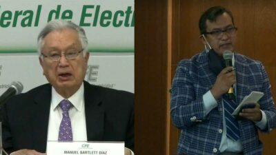 Manuel Bartlett, director de la Comisión Federal de Electricidad (CFE), le llamó bozal al cubrebocas. Foto: Tomada del video