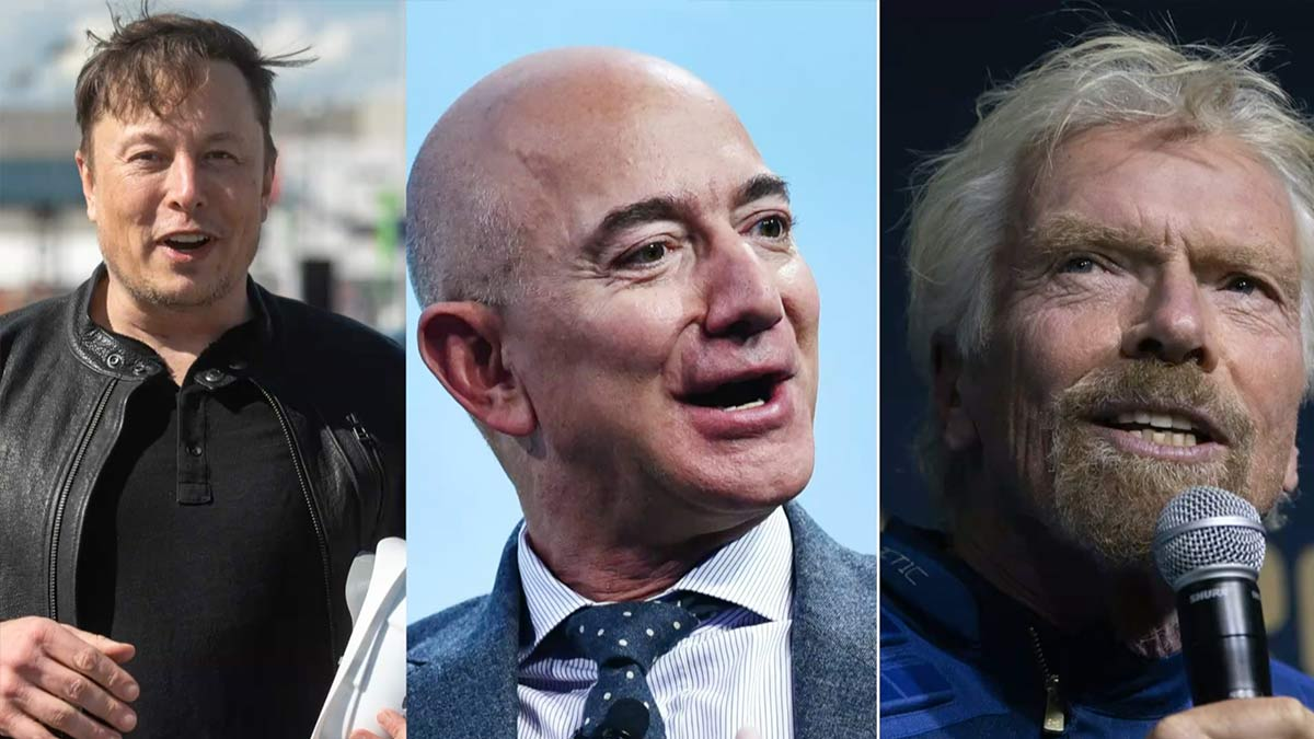 Bezos, Musk, espacio de Branson