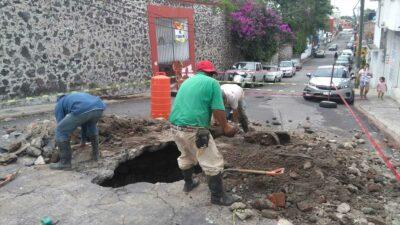 Socavón en Cuernavaca, Morelos; ve imágenes