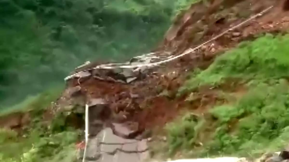 India carretera deslizamiento