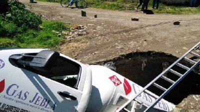 Puebla: se forma un nuevo socavón, ahora en Santa Ana Xalmimilulco