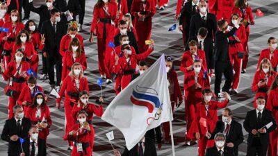 Tokio 2020 Rusia bandera