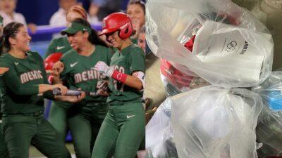 """""""Es sobrepeso"""", la razón por la que jugadoras de softbol tiraron su uniforme a la basura"""