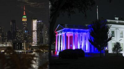 EU ilumina emblemáticos edificios para apoyar atletas en Tokio 2020