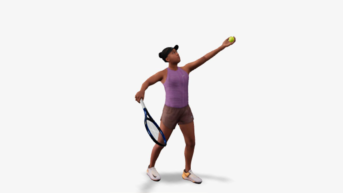 Atletas olímpicos en 3D