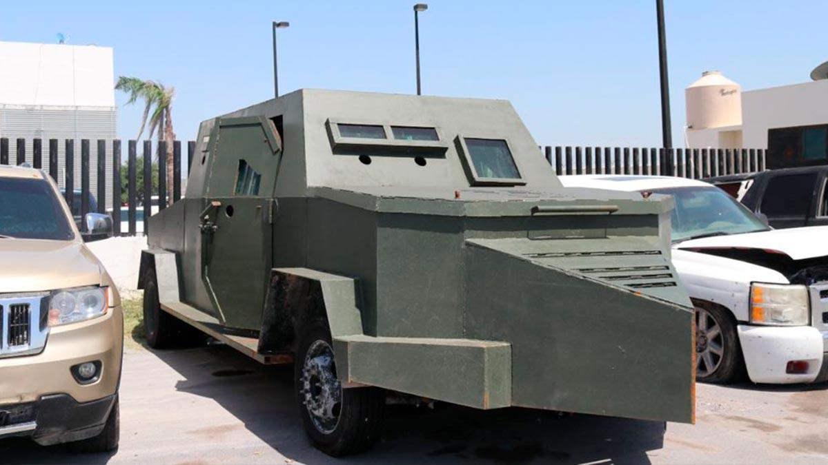 """Tamaulipas decomisa 14 vehículos """"monstruos"""" usados por crimen"""