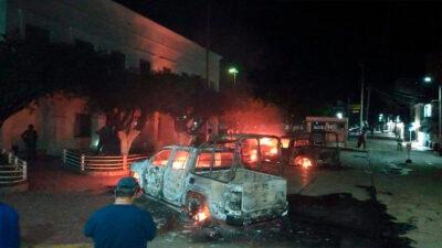 Chiapas: queman patrullas en Frontera Comalapa