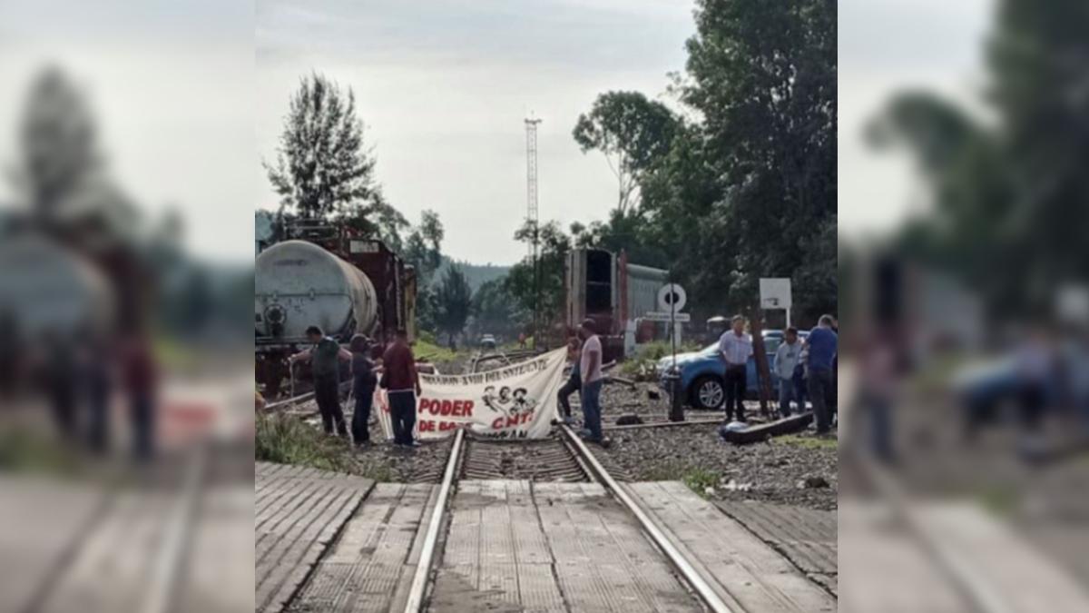 Michoacán: maestros vuelven a bloquear vías del tren