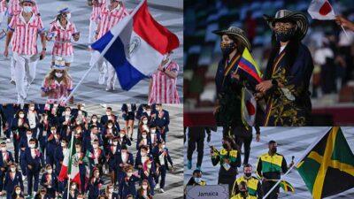 Tokio 2020: los trajes más llamativos de la inauguración olímpica