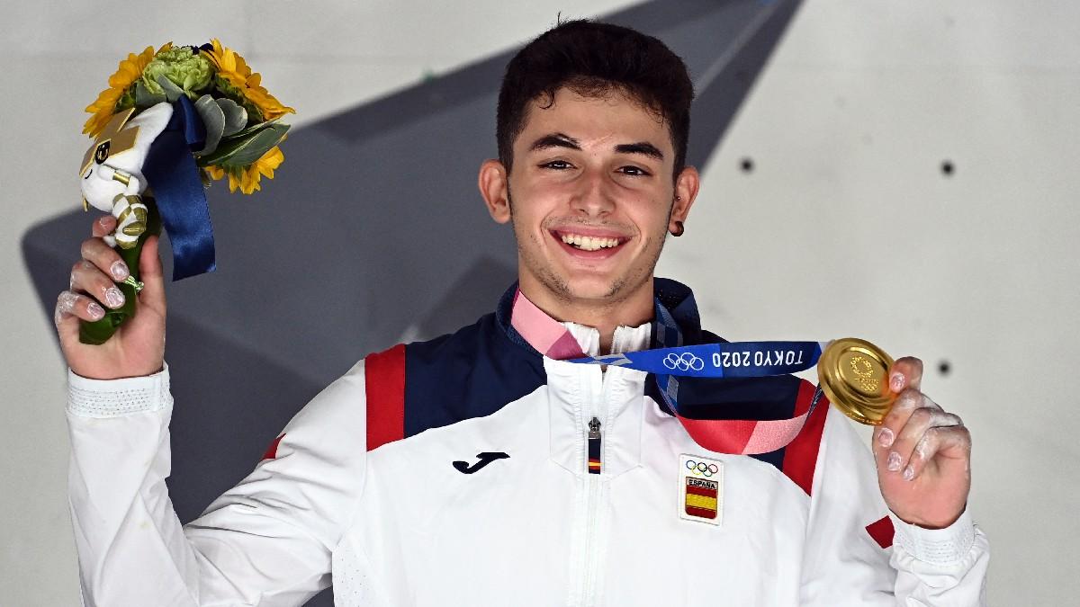 Alberto Ginés López, primer campeón olímpico de escalada en Tokyo 2020