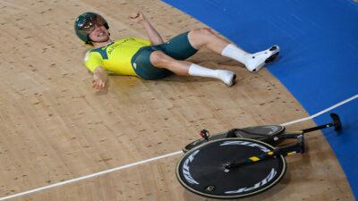 Alexander Porter se cae de la bicicleta en Tokio 2020, así fue el momento