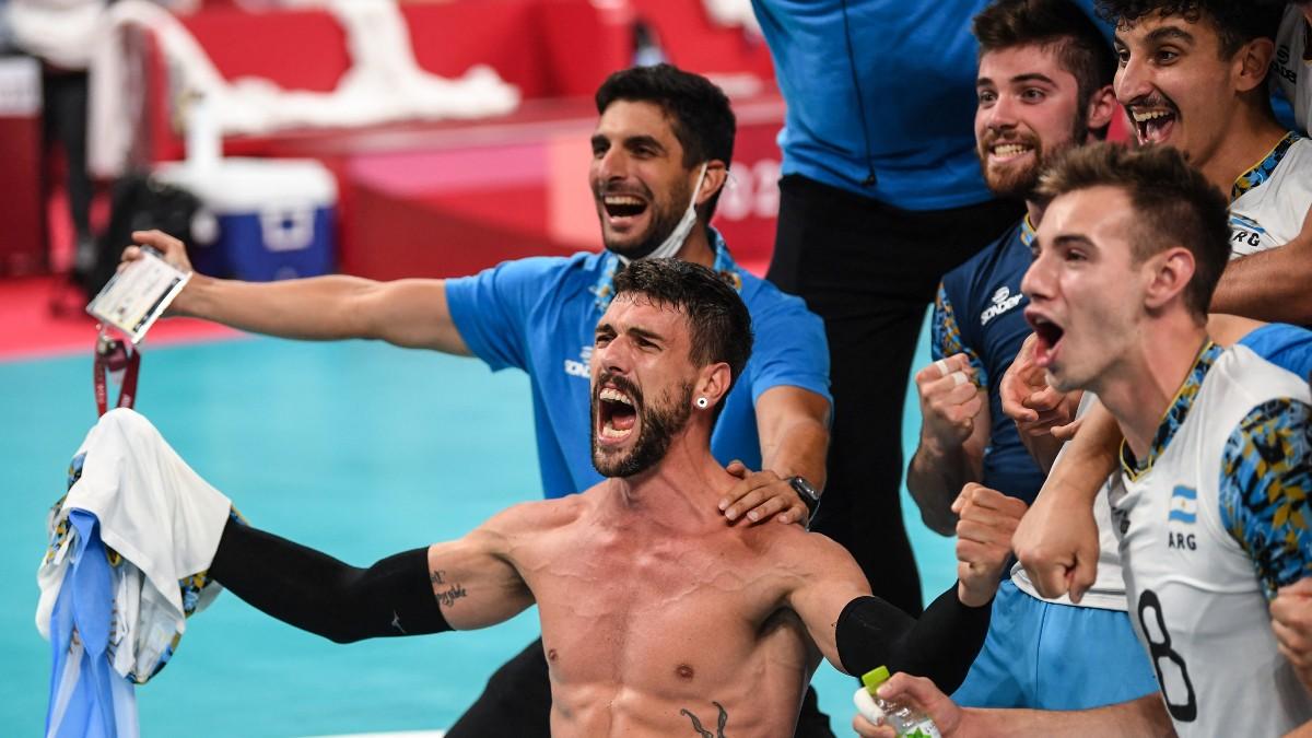 Argentina le gana a Brasil el bronce en voleibol