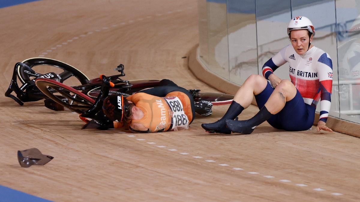Laurine Van Riessen, la ciclista hospitalizada tras caer en keirin