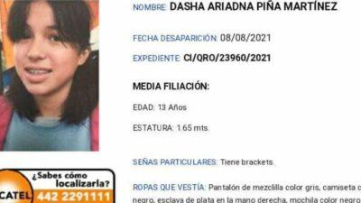 Buscan a Dasha, viajaba desde Querétaro a Morelia cuando desapareció