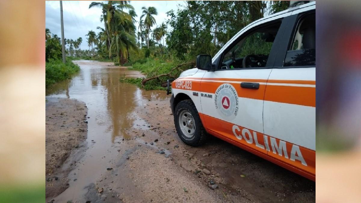 Colima: Huracán Nora deja daños en estas carreteras
