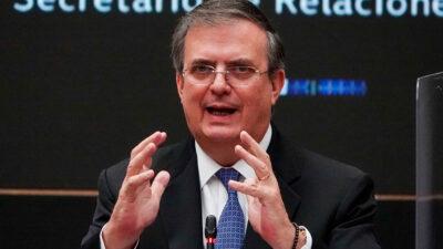 Marcelo Ebrard Casaubón se reúne con senadores de Morena; abordan varios temas