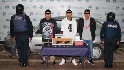 Puebla: detienen a banda relacionada con 20 robos a peatones