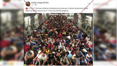 Foto de evacuados en un avión no es de Afganistán; circula desde 2013 ligada a Filipinas