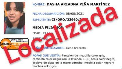 Hallan a Dasha con vida en Guerrero, joven desaparecida en Querétaro