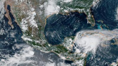 Huracán Grace: así se ve desde el espacio