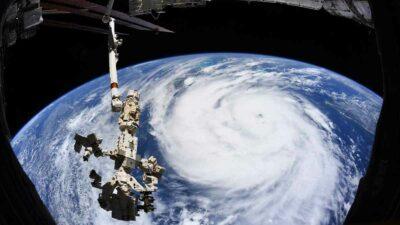 huracán Ida espacio