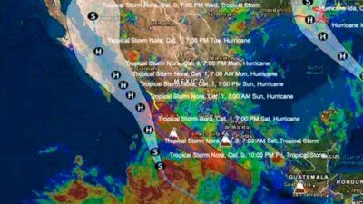Huracán Nora es categoría 1: afectará a Jalisco y Colima