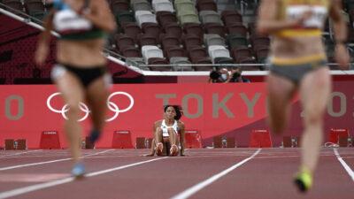 Katarina Johnson-Thompson se lesiona en los 200m y decide terminar la carrera en Tokio 2020