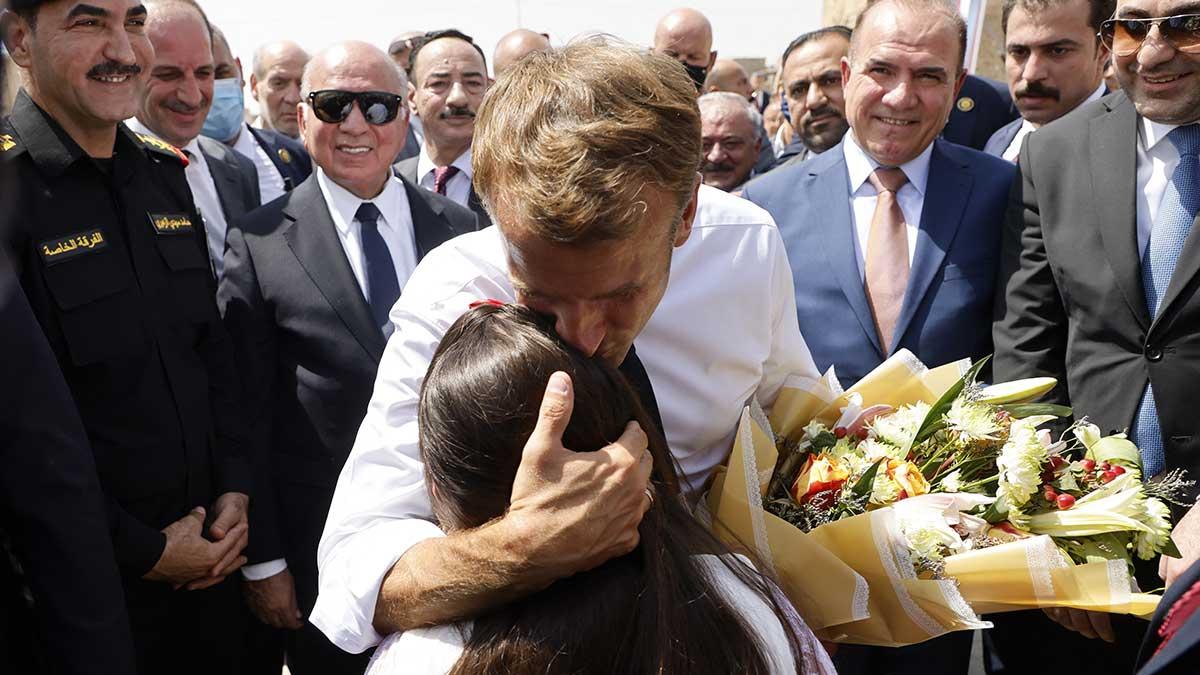 Emmanuel Macron visita Mosul y muestra respeto a comunidades