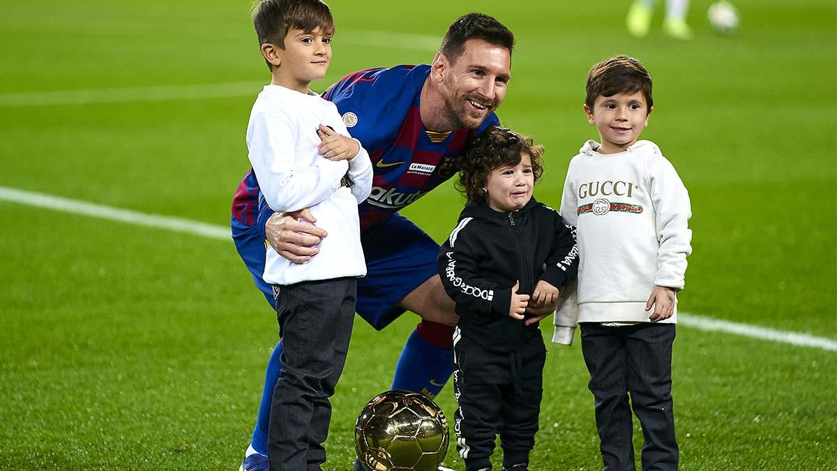 Hijo de Lionel Messi demuestra sus habilidades con el balón