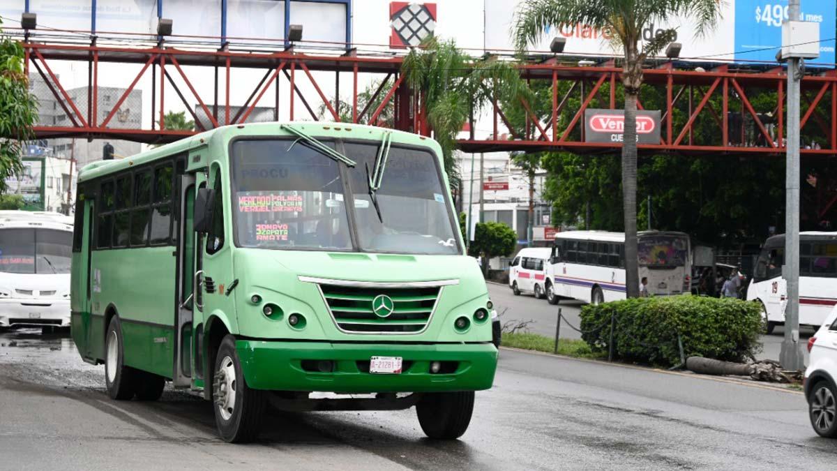 Transporte en Morelos aumenta 25% de precio