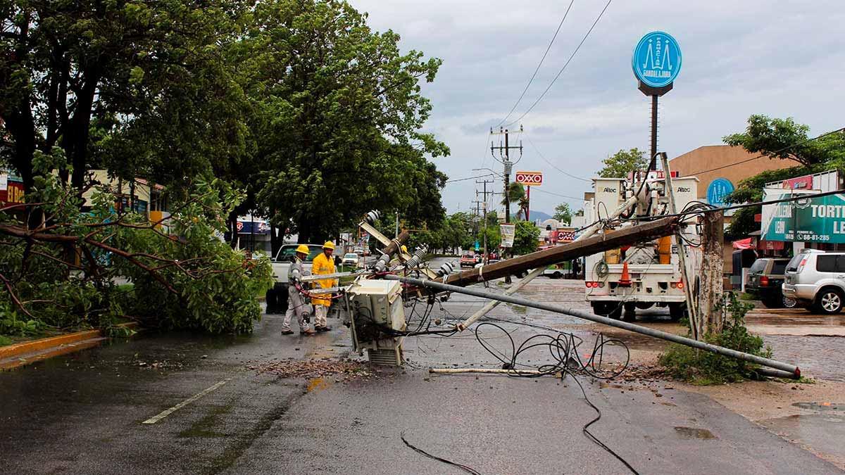 Debido a Nora se esperan lluvias torrenciales en Nayarit y Sinaloa. Foto: Reuters
