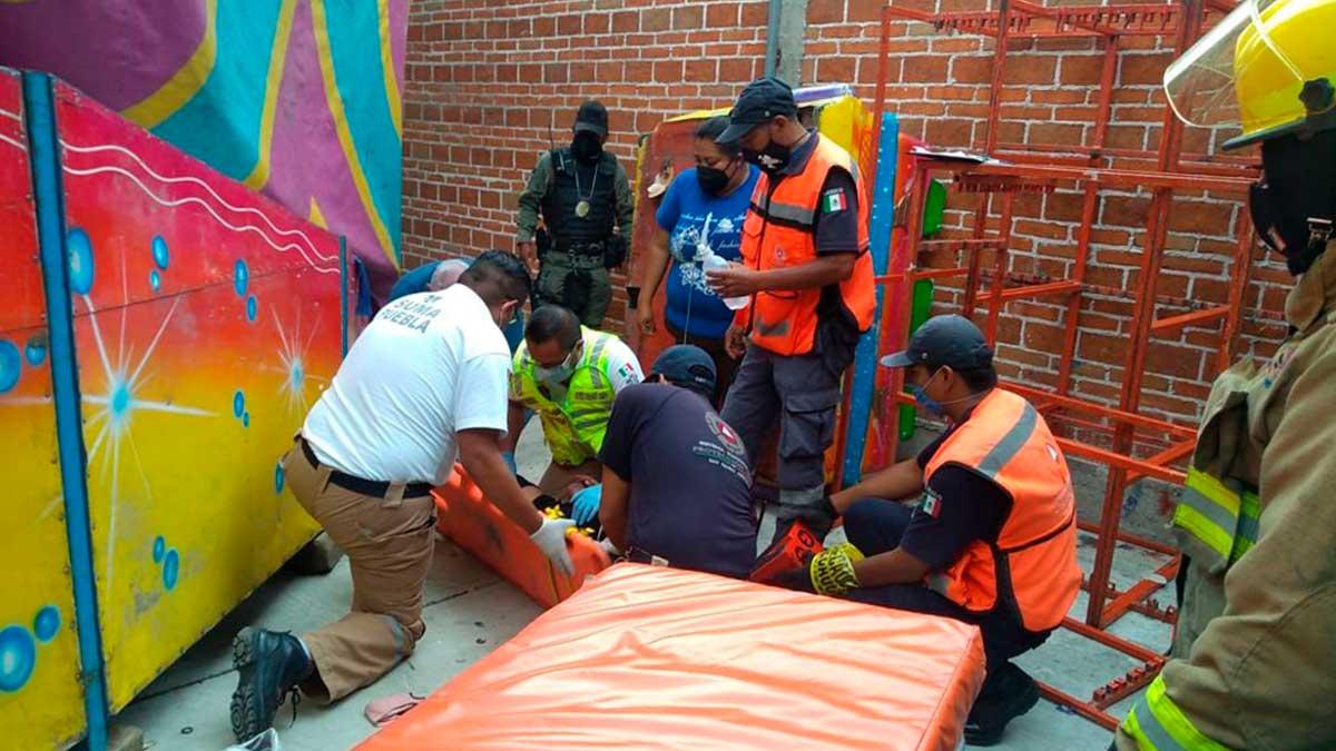 Puebla: juego mecánico falla y causa lesiones a 3 personas