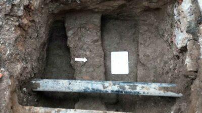 CDMX: En calle San Fernando hallaron restos prehispánicos