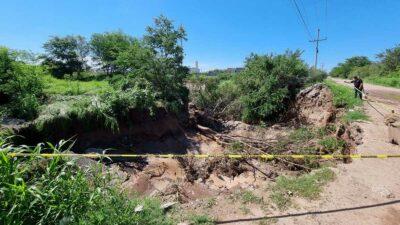 Socavón en Culiacán, Sinaloa, aparece tras fuertes lluvias