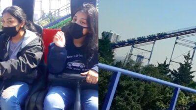 Six Flags Jovenes Atrapadas En Juego Mecanico Transmiten En Vivo