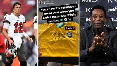 Tom Brady recibe regalo de Pelé y así lo presume en Instagram