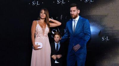 Thiago, el hijo de Messi, responde a reportero que quiso pasarse de listo
