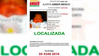Tamaulipas: Encuentran a bebé robada tras engaño en redes sociales