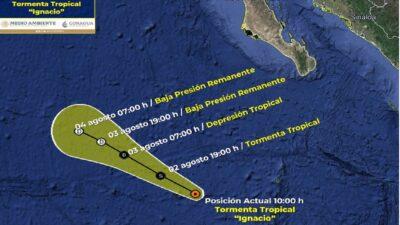 Tormenta tropical Ignacio se forma en el Océano Pacífico