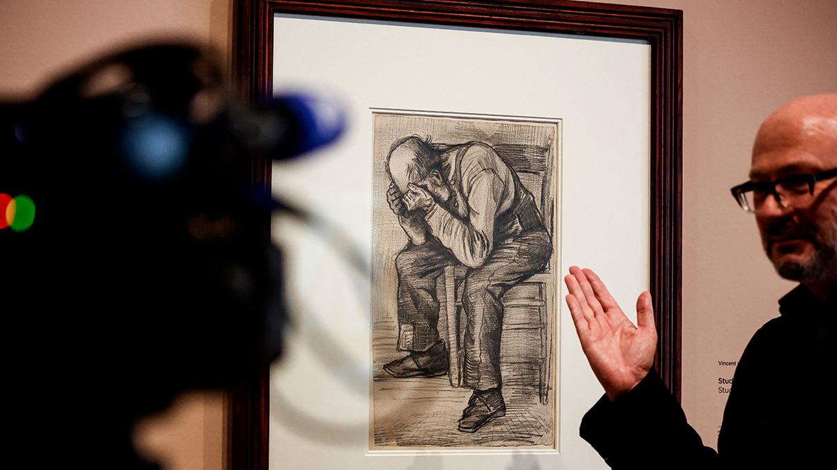 Vincent Van Gogh: un dibujo del pintor es exhibido por primera vez en Ámsterdam