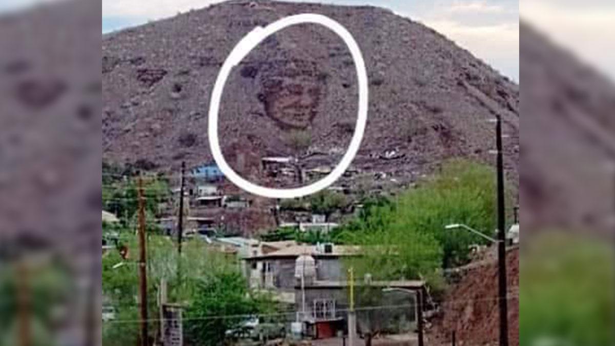 Baja California Sur: foto de rostro en cerro Santa Rosalía enciende redes