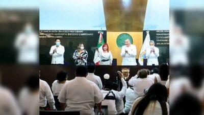 Layda Sansores rinde protesta como gobernadora de Campeche