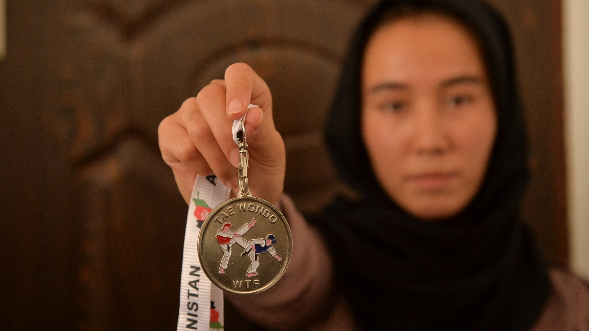 Campeonas De Taekwondo Afganas Mujeres
