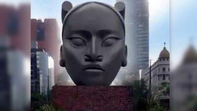 CDMX: Ella es Tlali, la escultura que reemplazará a Colón en Reforma