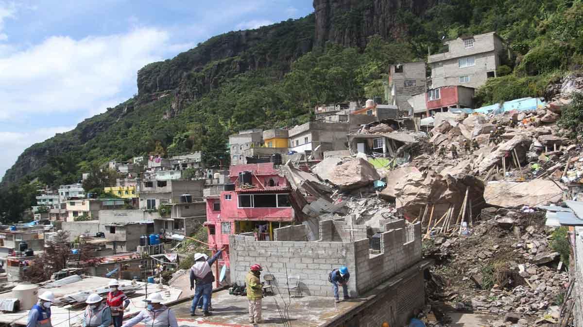 Derrumbe en el cerro Chiquihuite: tres personas siguen desaparecidas