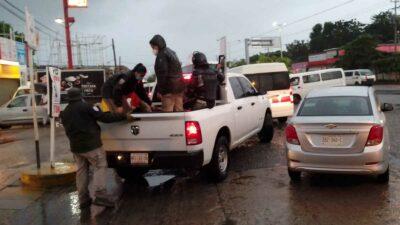 Chiapas: Migrantes apedrean a Guardia Nacional en Mapastepec